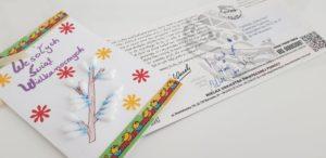 Przykłady kartek wysyłanych przez organizacje pozarządowe.