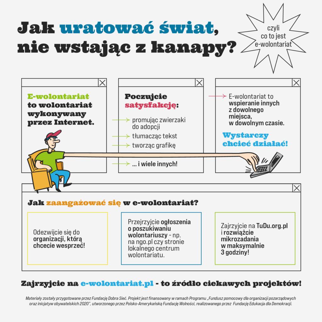"""Infografika """"Jak uratować świat, nie wstając z kanapy?"""""""